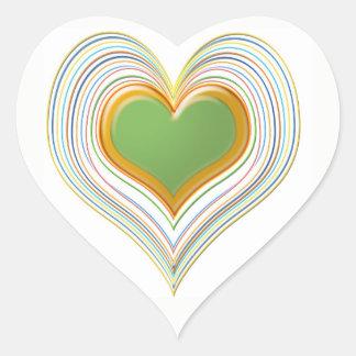 Emerald Green Sweet Hearts -   Kids Store Heart Sticker