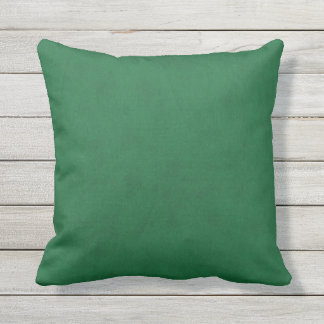 Emerald Green Velvet Look Outdoor Cushion
