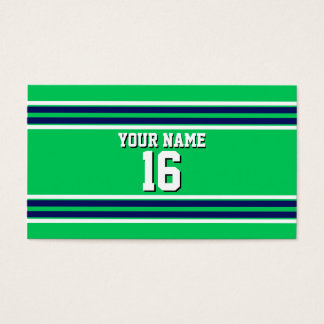 Emerald Green with Navy White Stripes Team Jersey