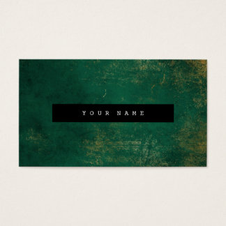 Emerald Grungy Distressed Gold Marble Vip Business Card