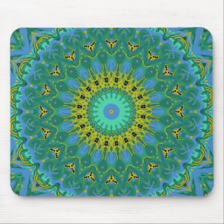Emerald Isle Blue Skies Kaleidoscope Mousepads