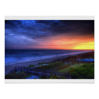 Emerald Isle Sunset Poster