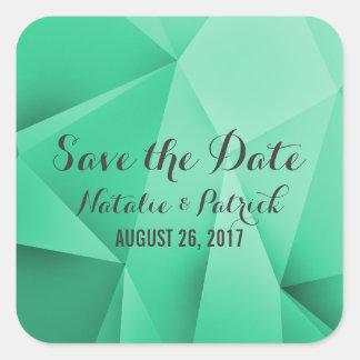 Emerald Jewel Tones Save the Date Stickers