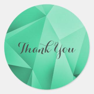 Emerald Jewel Tones Thank You Stickers
