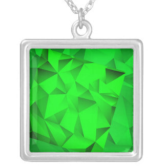 EMERALD JEWLES SILVER PLATED NECKLACE