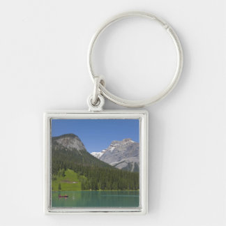 Emerald Lake, Canadian Rockies, British Silver-Colored Square Key Ring