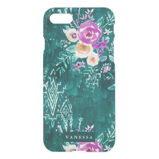 Emerald Lavish Watercolor Floral CUSTOMIZABLE iPhone 7 Case