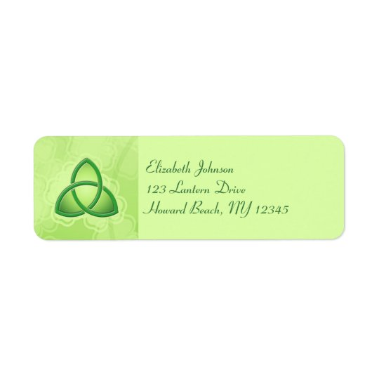 Emerald Love Knot Return Address Label