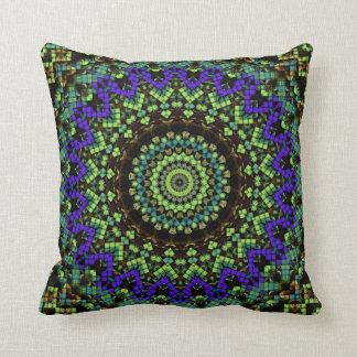 """Emerald mandala Throw Pillow 16"""" x 16"""""""