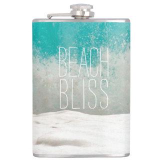 Emerald Ocean Crashing Waves - Beach Bliss Hip Flask