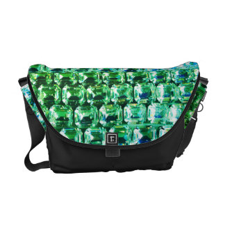 Emerald Rhinestones Courier Bag