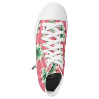 Emerald Rose High Top Shoes