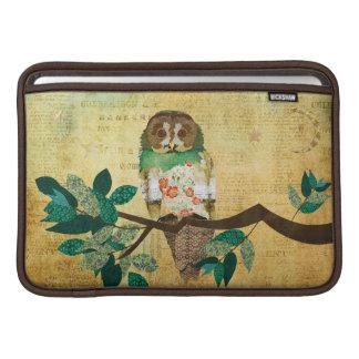 Emerald Rose Owl Gold Moonlight Sleeve MacBook Sleeve