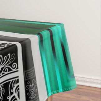 Emerald Scroll Cat Tablecloth