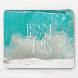 Emerald Sea Crashing Waves - Beach Bliss Mouse Pad