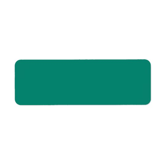 Emerald Spring Green Trend Colour CustomTemplate Return Address Label