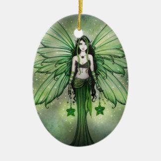 Emerald Star Christmas Fairy Ornament
