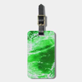 Emerald stream luggage tag