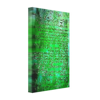 EMERALD TABLETS THOTH RA CANVAS EG