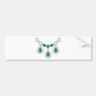 Emerald Teardrop Necklace Bumper Sticker