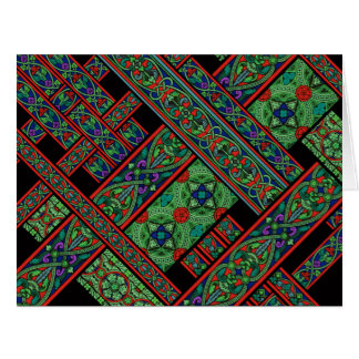 Emerald Twilight Stained Glass Big Greeting Card