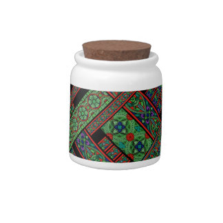 Emerald Twilight Stained Glass Candy Jar
