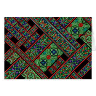 Emerald Twilight Stained Glass Greeting Card