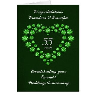 Emerald Wedding Anniversary Card - 55 Years