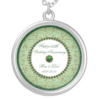 Emerald Wedding Anniversary Necklace