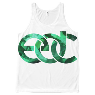 Emerald/white EDM All-Over Print Singlet