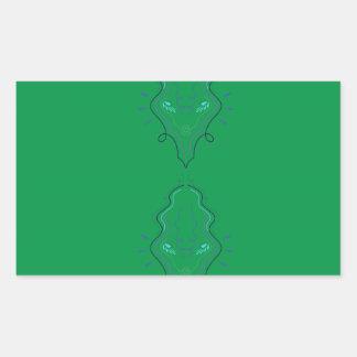 Emeralds green design rectangular sticker