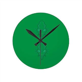 Emeralds green design round clock