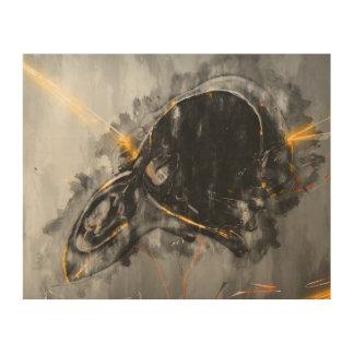 Emerge from the blackness wall art print wood print