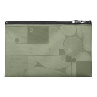 Emergence Geometric Abstract in Olive Green Travel Accessory Bag