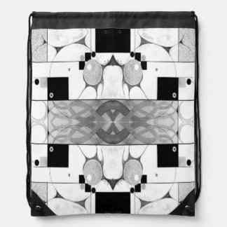 Emergence - Sophisticated Black and White Abstract Backpacks