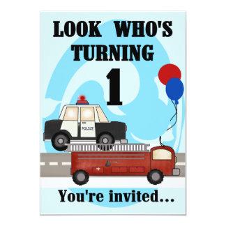 Emergency 1st Birthday Invites
