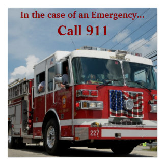 Emergency 911 poster