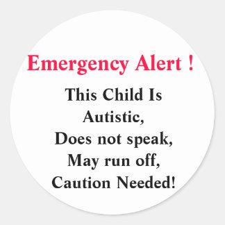 Emergency Alert Stickers