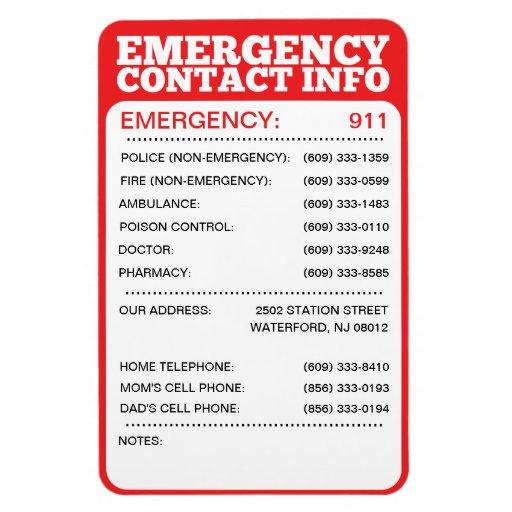 Emergency Phone Numbers List For Kids Emergency Phone Numbers List