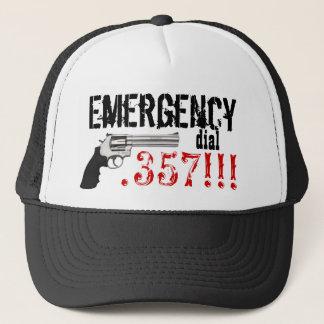 Emergency Dial .357 !!!  357 Gun Trucker Hat