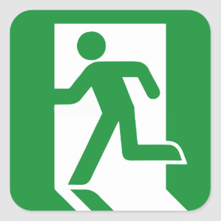 Emergency Exit Door Sticker