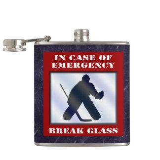 Emergency Hockey Goalie Hip Flask