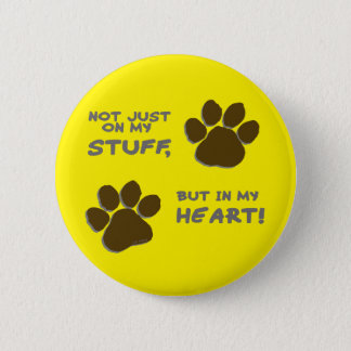 Emergency just on my stuff, but in my heart 6 cm round badge