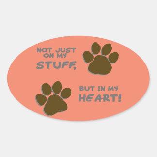 Emergency just on my stuff, but in my heart oval sticker