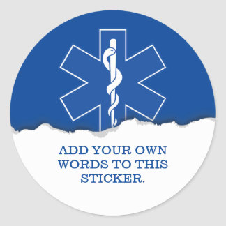 Emergency Medical Services Custom Round Sticker