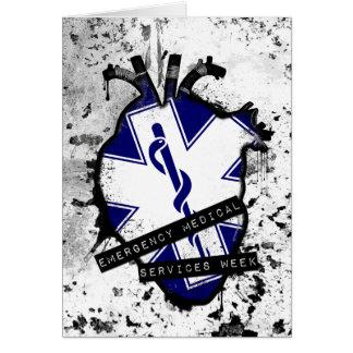 emergency medical services week greeting card