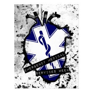 emergency medical services week postcard