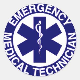EMERGENCY MEDICAL TECHNICIAN CLASSIC ROUND STICKER