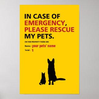 Emergency Poster (dog & cat)