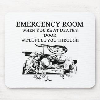 emergency room joke mouse pad